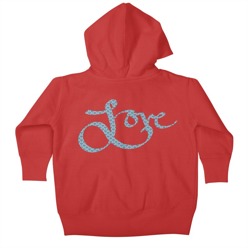 Recursive Love Kids Baby Zip-Up Hoody by Demeter Designs Artist Shop