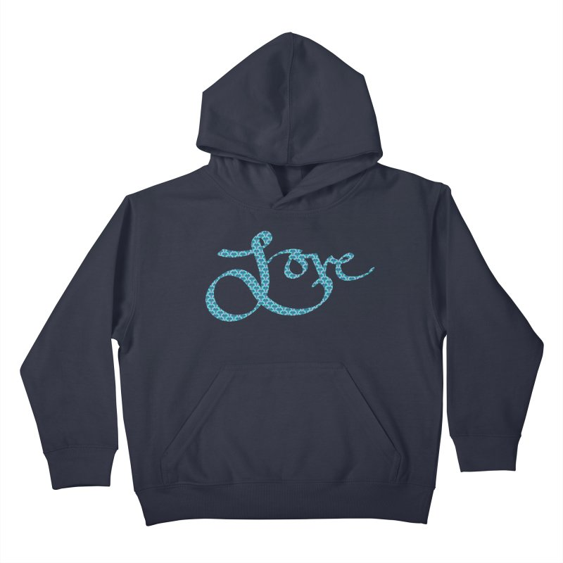 Recursive Love Kids Pullover Hoody by Demeter Designs Artist Shop