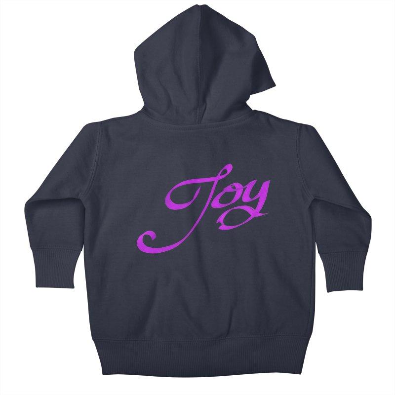 Watercolor Joy. Kids Baby Zip-Up Hoody by Demeter Designs Artist Shop