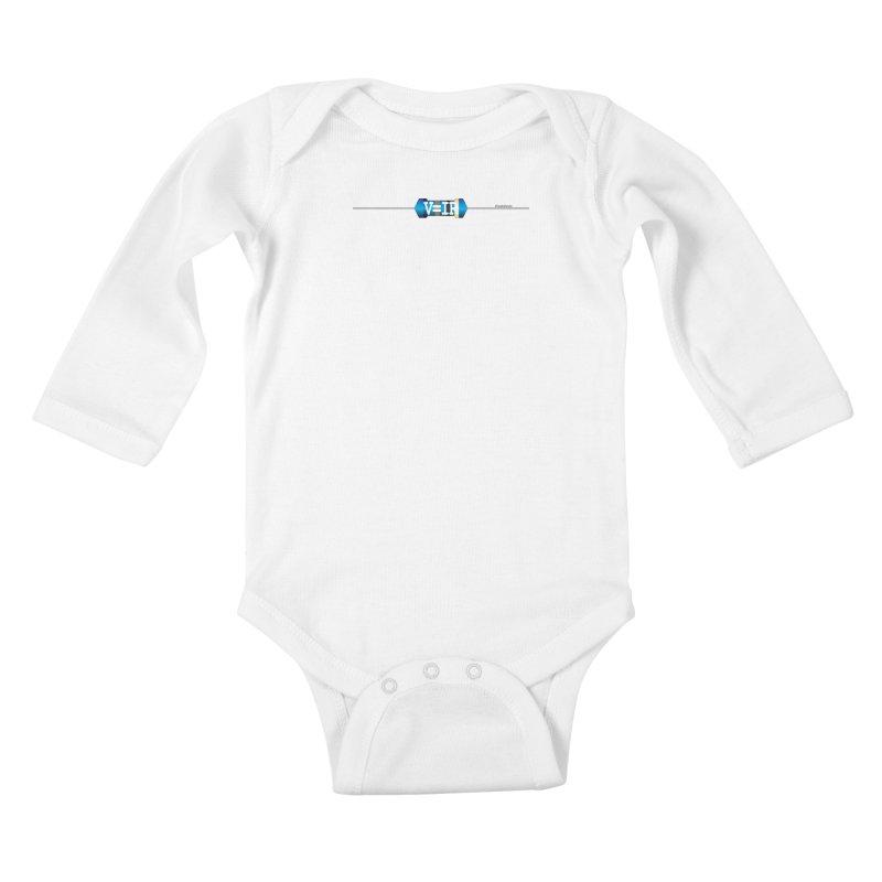 Ohm Resists (#GeeksResist) Kids Baby Longsleeve Bodysuit by Demeter Designs Artist Shop