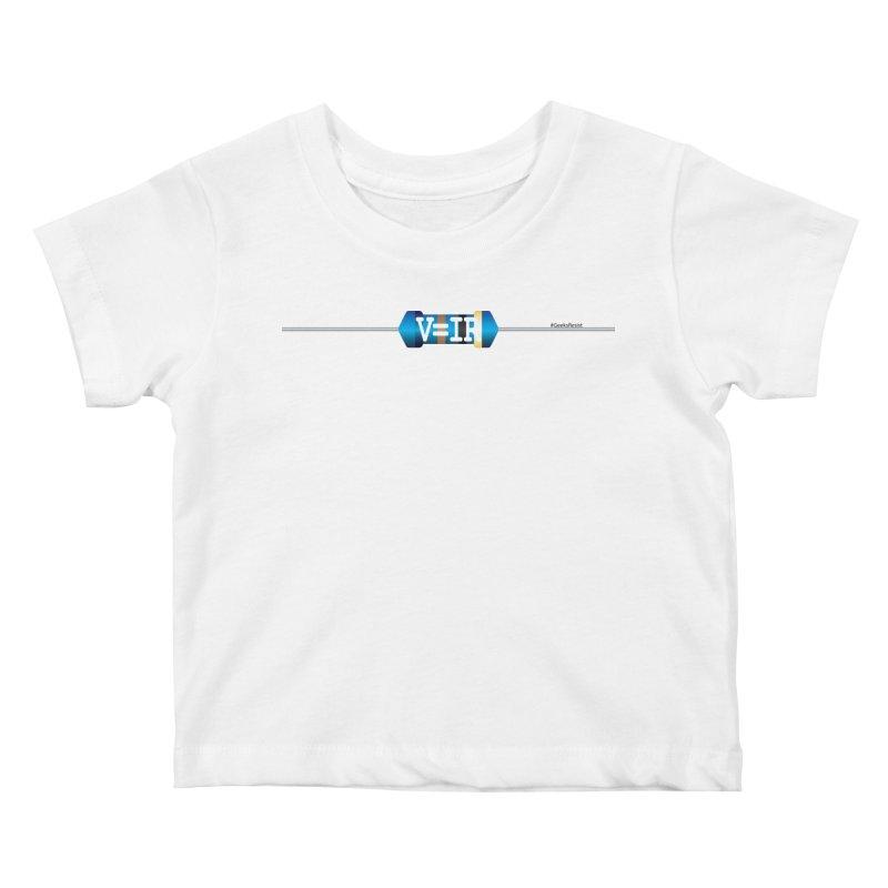 Ohm Resists (#GeeksResist) Kids Baby T-Shirt by Demeter Designs Artist Shop