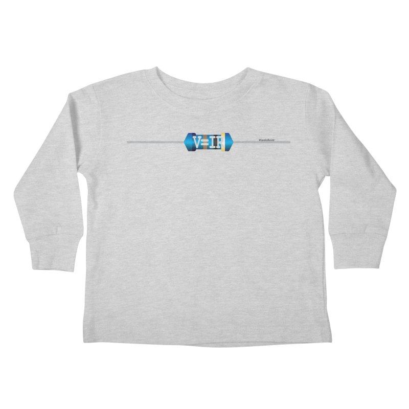 Ohm Resists (#GeeksResist) Kids Toddler Longsleeve T-Shirt by Demeter Designs Artist Shop