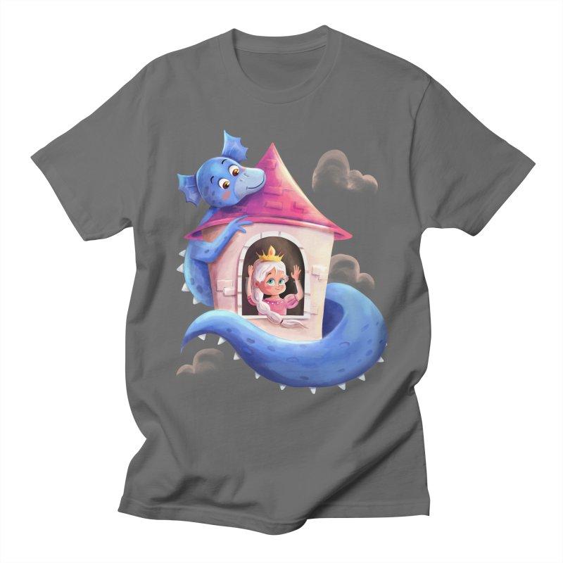 Princess Penelope & Pippy The Dragon Men's T-Shirt by Dexter's T-Shirts