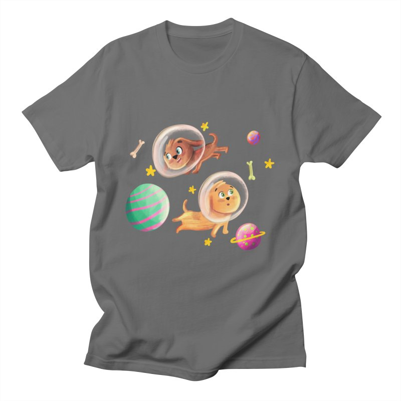 Space Dogs Men's T-Shirt by Dexter's T-Shirts