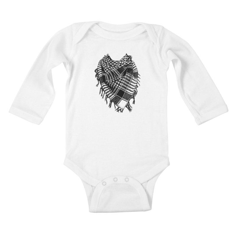 Keffiyeh Kids Baby Longsleeve Bodysuit by deyaz's Artist Shop