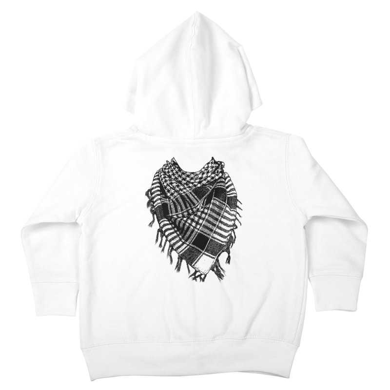 Keffiyeh Kids Toddler Zip-Up Hoody by deyaz's Artist Shop