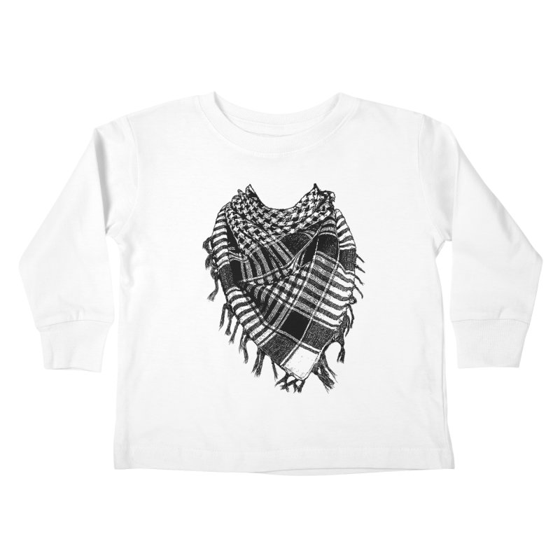 Keffiyeh Kids Toddler Longsleeve T-Shirt by deyaz's Artist Shop