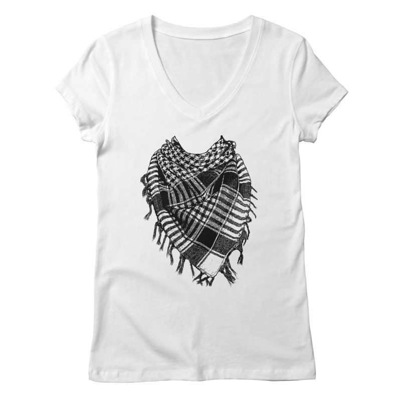 Keffiyeh Women's V-Neck by deyaz's Artist Shop