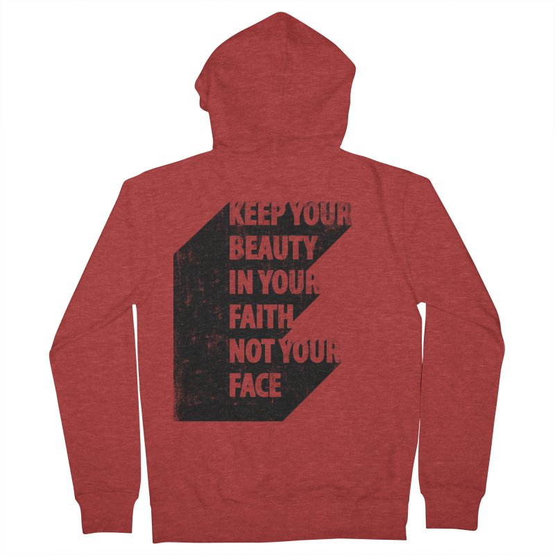 Keep Your Beauty Men's Zip-Up Hoody by deyaz's Artist Shop