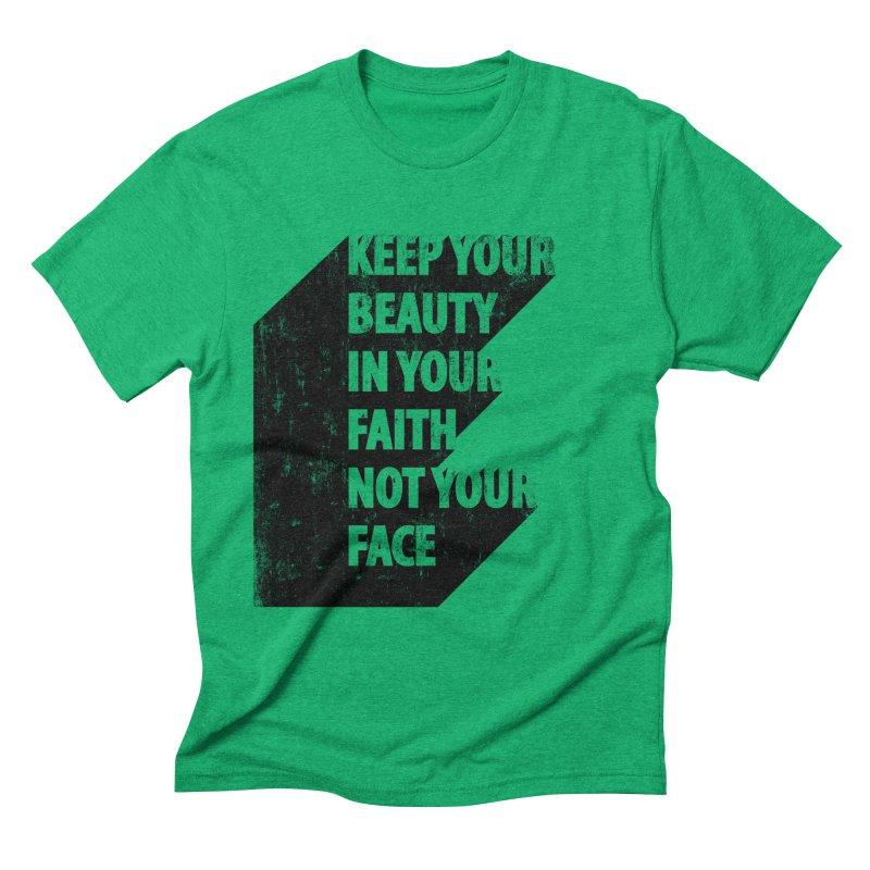 Keep Your Beauty Men's Triblend T-Shirt by deyaz's Artist Shop