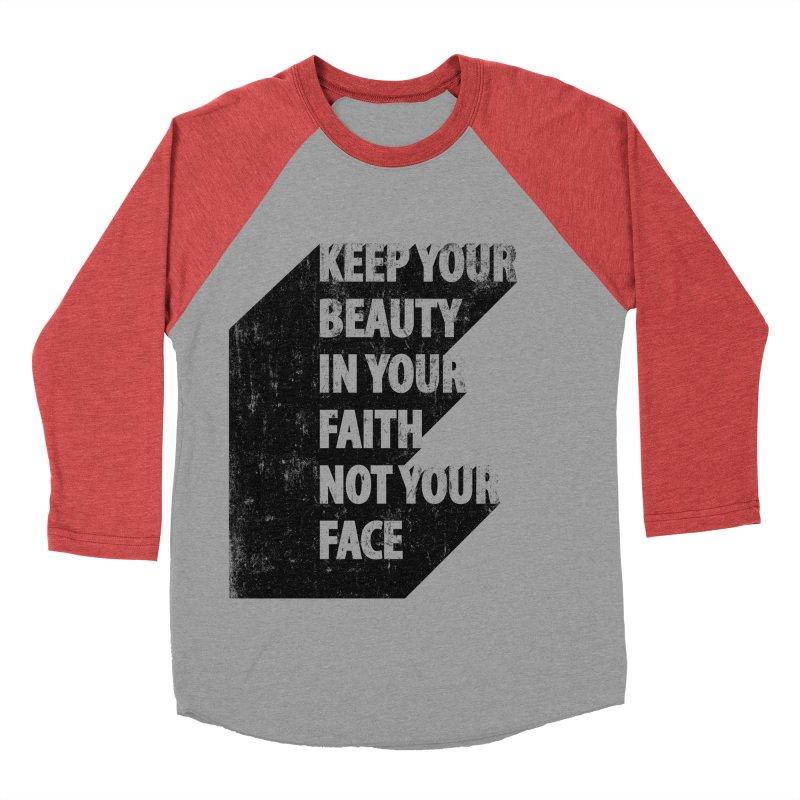 Keep Your Beauty Men's Baseball Triblend T-Shirt by deyaz's Artist Shop