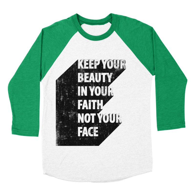 Keep Your Beauty Men's Baseball Triblend T-Shirt by deyaz's Artist Shop