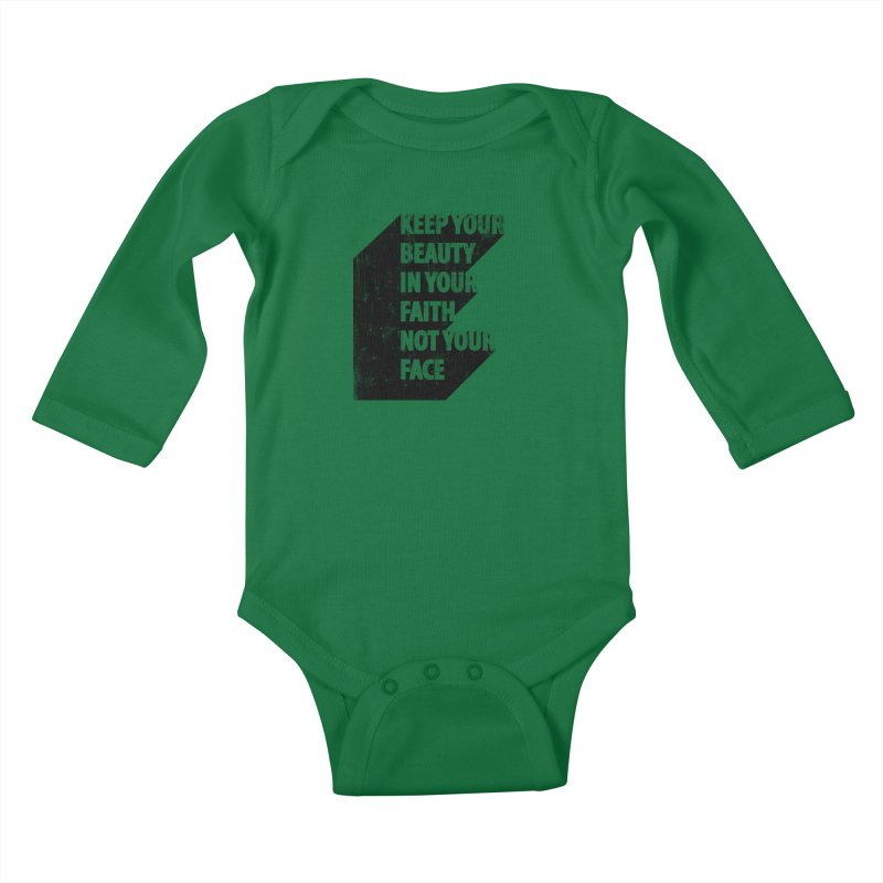 Keep Your Beauty Kids Baby Longsleeve Bodysuit by deyaz's Artist Shop