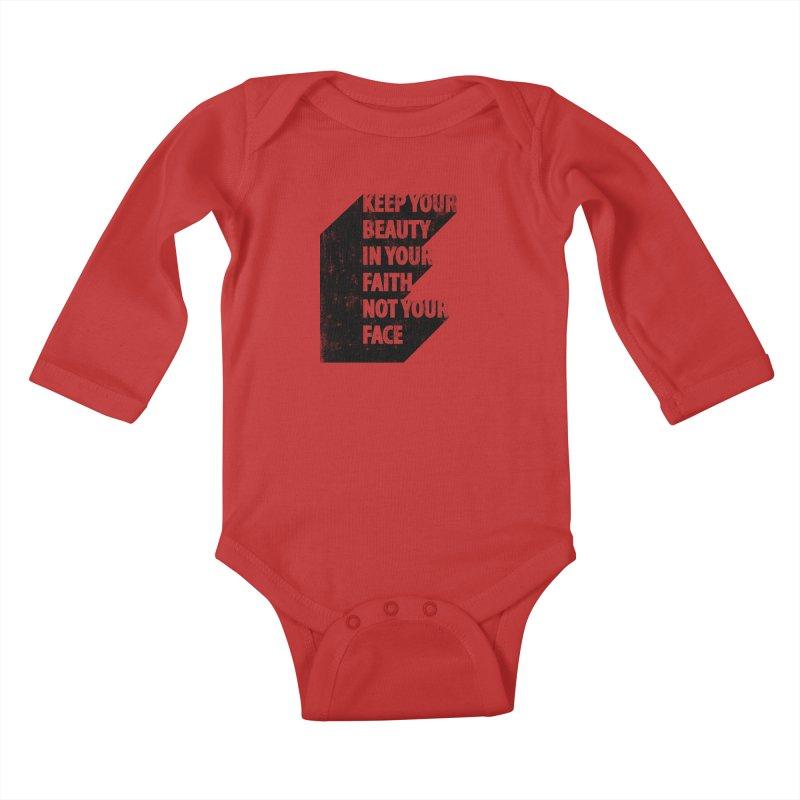 Keep Your Beauty Kids Baby Longsleeve Bodysuit by deyaz's Artist Shop