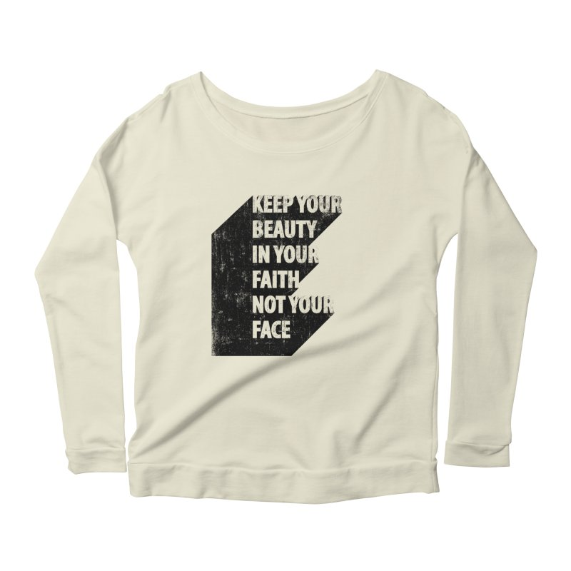 Keep Your Beauty Women's Longsleeve Scoopneck  by deyaz's Artist Shop