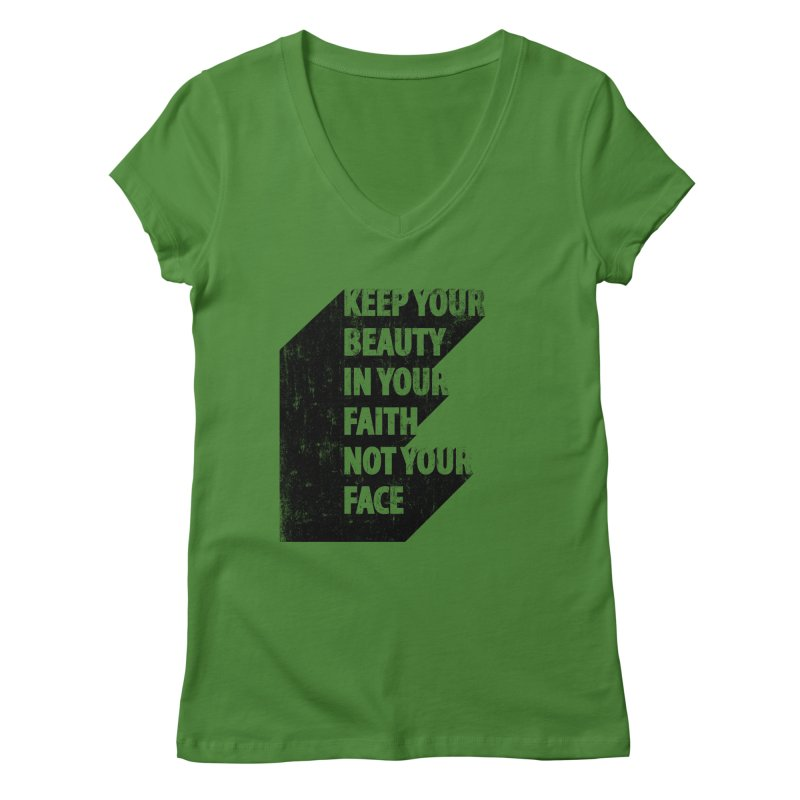 Keep Your Beauty Women's V-Neck by deyaz's Artist Shop