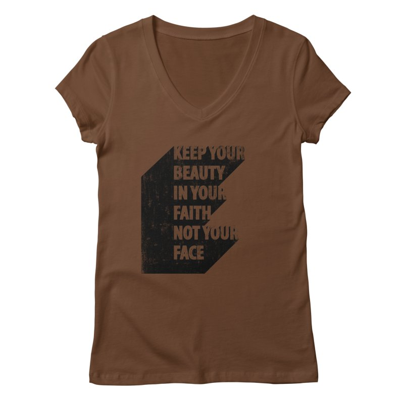 Keep Your Beauty Women's V-Neck by deyaz's Artist Shop