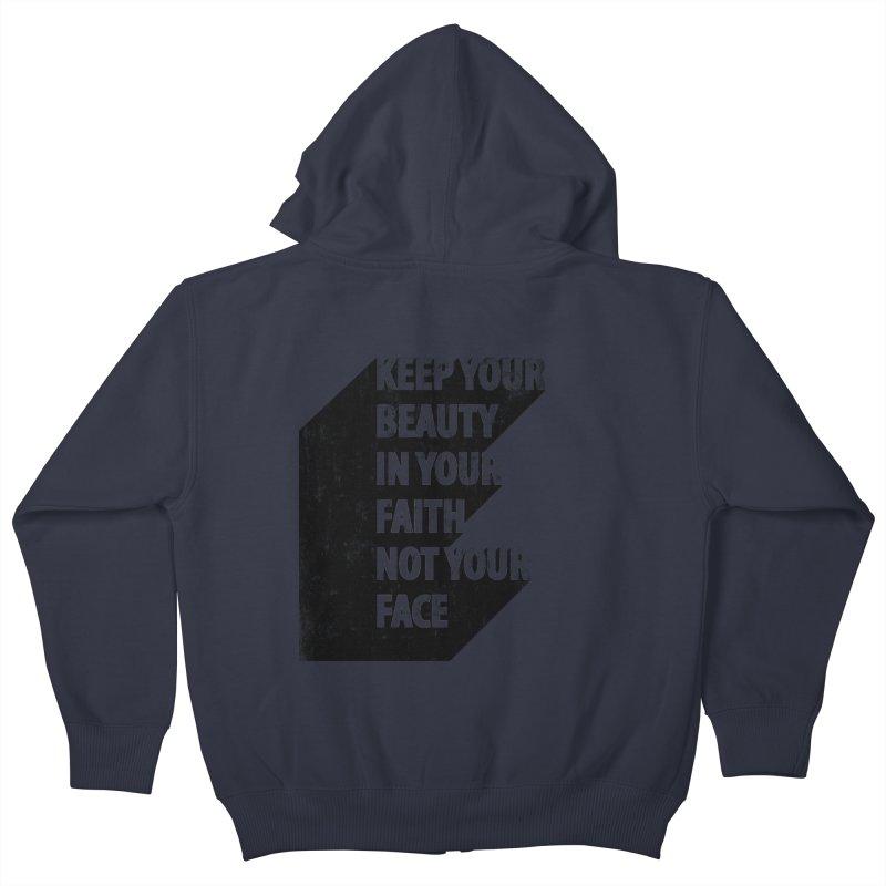 Keep Your Beauty Kids Zip-Up Hoody by deyaz's Artist Shop