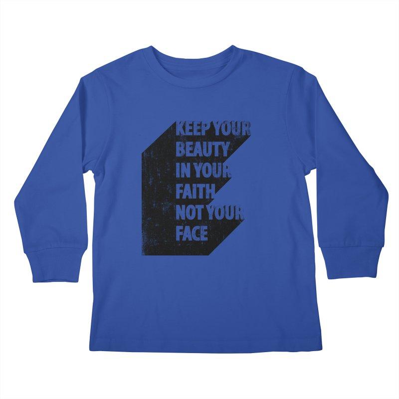Keep Your Beauty Kids Longsleeve T-Shirt by deyaz's Artist Shop