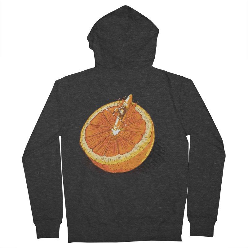 Rapid Orange Men's Zip-Up Hoody by deyaz's Artist Shop