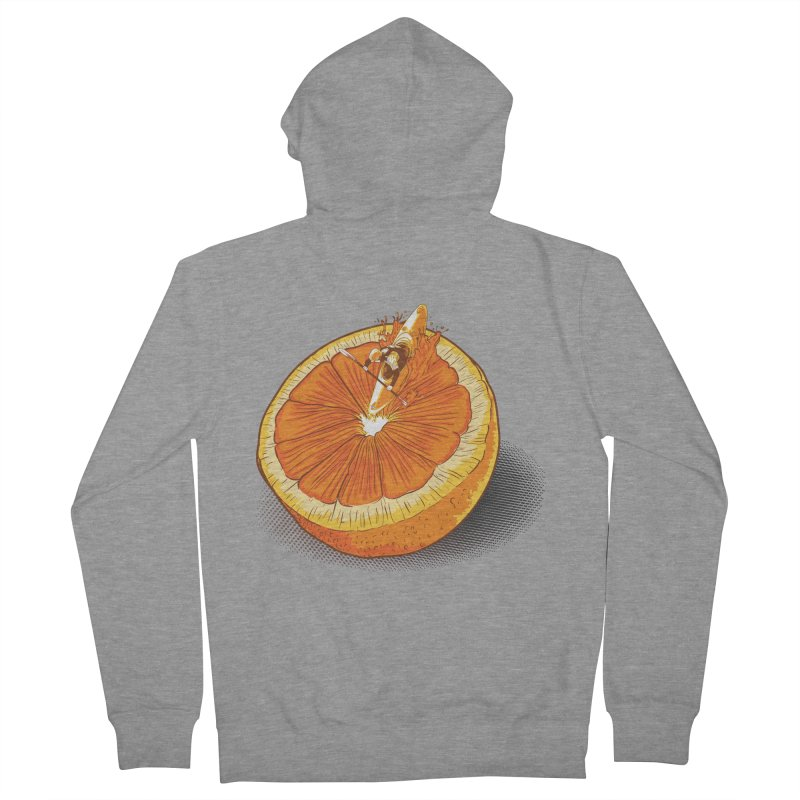 Rapid Orange Men's Zip-Up Hoody by deyaz's Artist Shop
