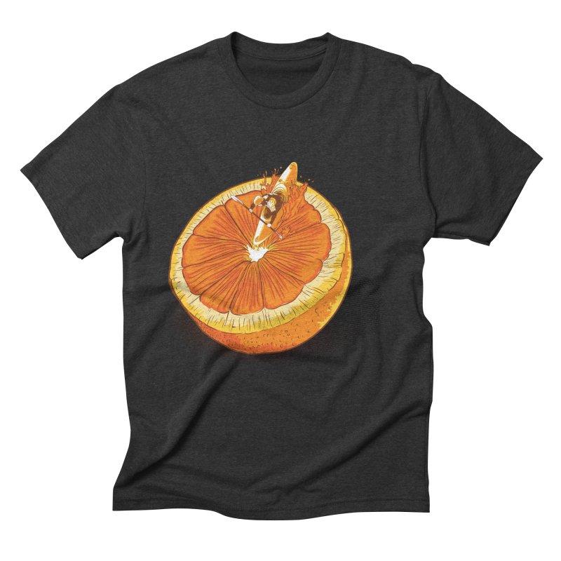 Rapid Orange Men's Triblend T-Shirt by deyaz's Artist Shop