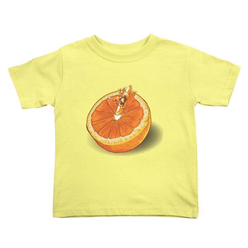 Rapid Orange Kids Toddler T-Shirt by deyaz's Artist Shop
