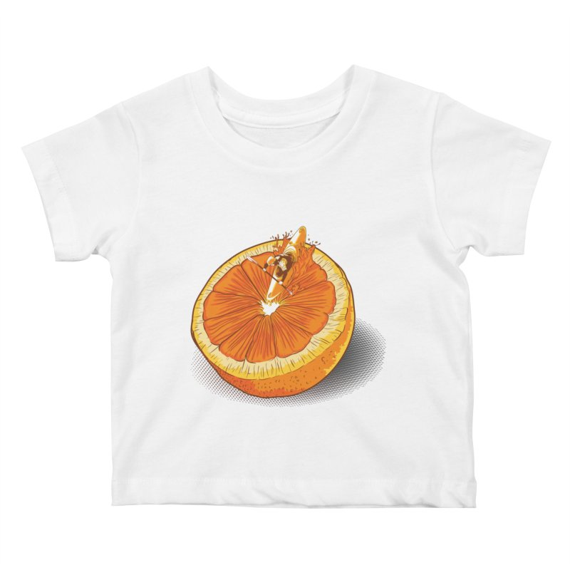 Rapid Orange Kids Baby T-Shirt by deyaz's Artist Shop