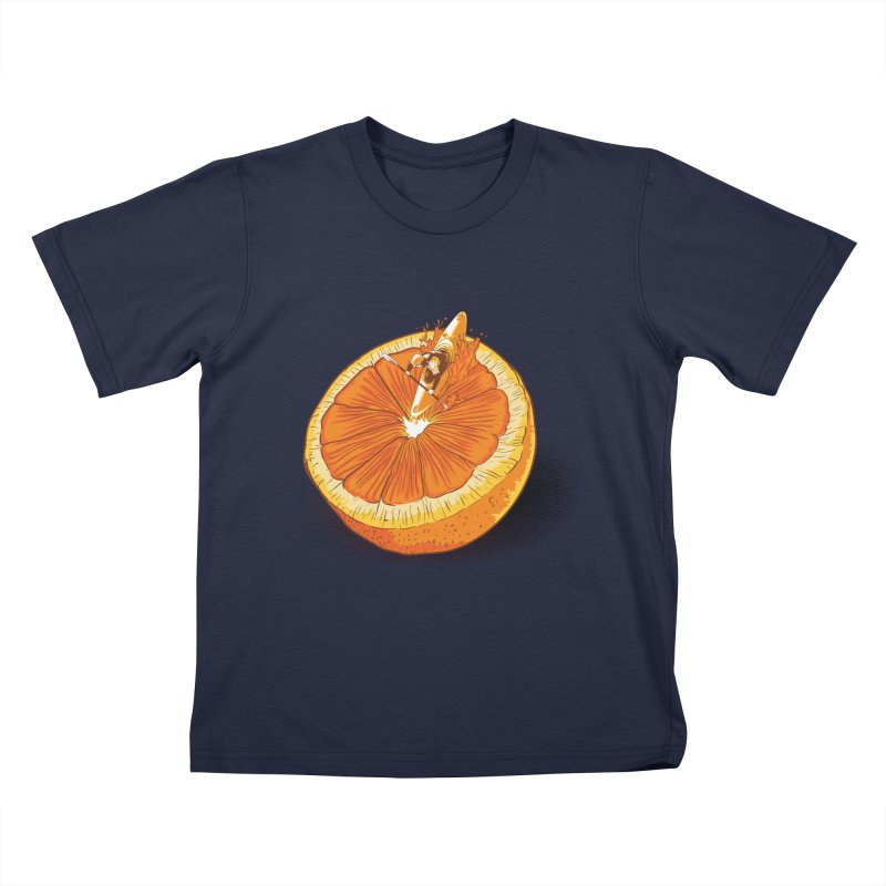 Rapid Orange Kids T-Shirt by deyaz's Artist Shop