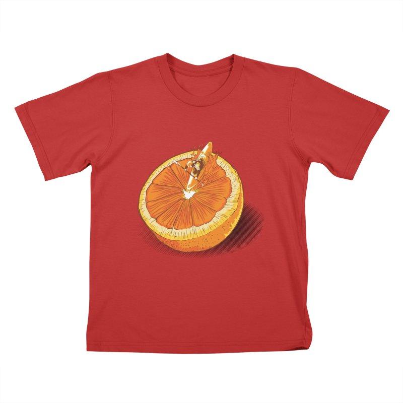 Rapid Orange Kids T-Shirt by deyaz's Artist Shop