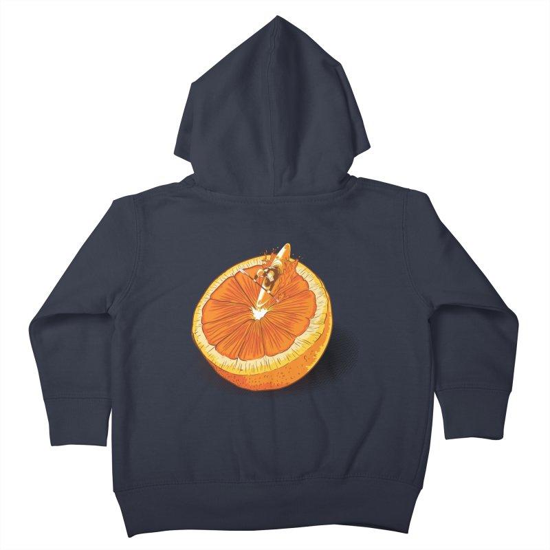 Rapid Orange Kids Toddler Zip-Up Hoody by deyaz's Artist Shop