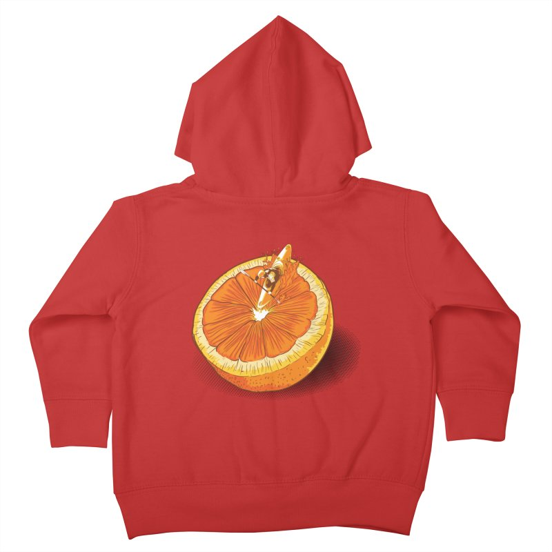 Rapid Orange Kids Toddler Zip-Up Hoody by deyaz's Artist Shop