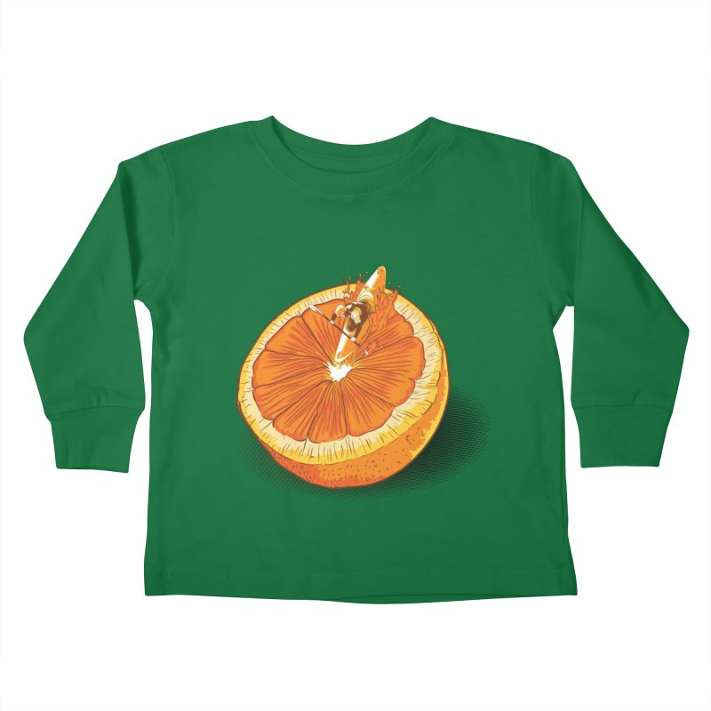 Rapid Orange Kids Toddler Longsleeve T-Shirt by deyaz's Artist Shop