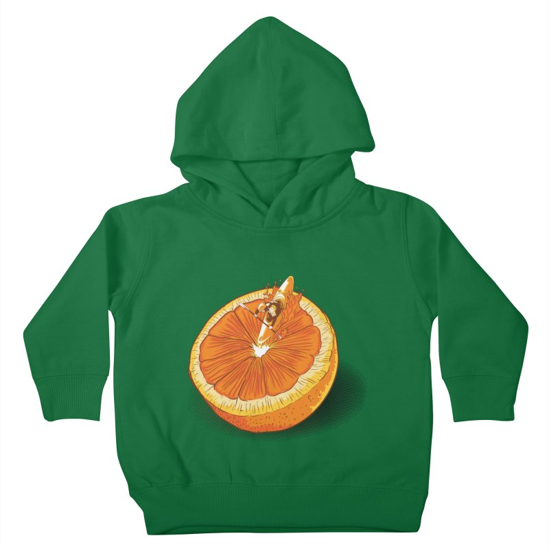 Rapid Orange Kids Toddler Pullover Hoody by deyaz's Artist Shop