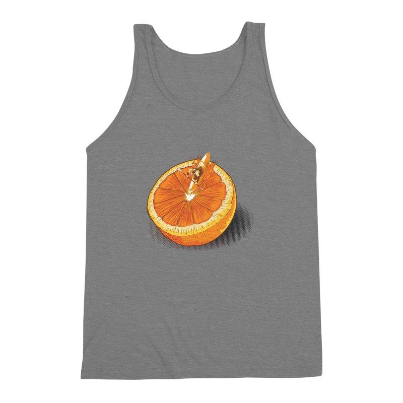 Rapid Orange Men's Triblend Tank by deyaz's Artist Shop