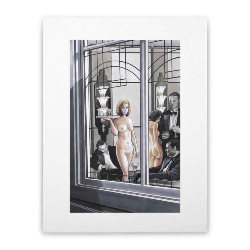 Queen of Angels #11 Home Stretched Canvas by Daphnes Fantasies Merchandise