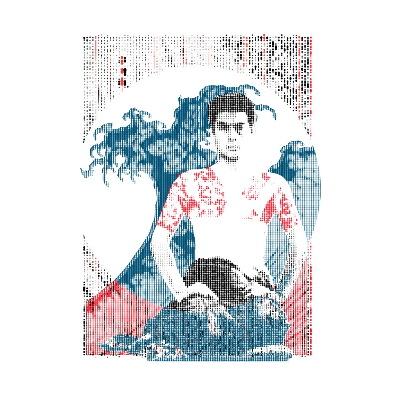 Samurai/Great Wave Men's Triblend T-shirt by dgeph's artist shop
