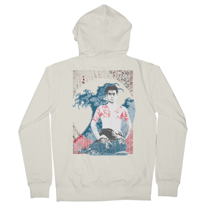 Samurai/Great Wave Women's Zip-Up Hoody by dgeph's artist shop