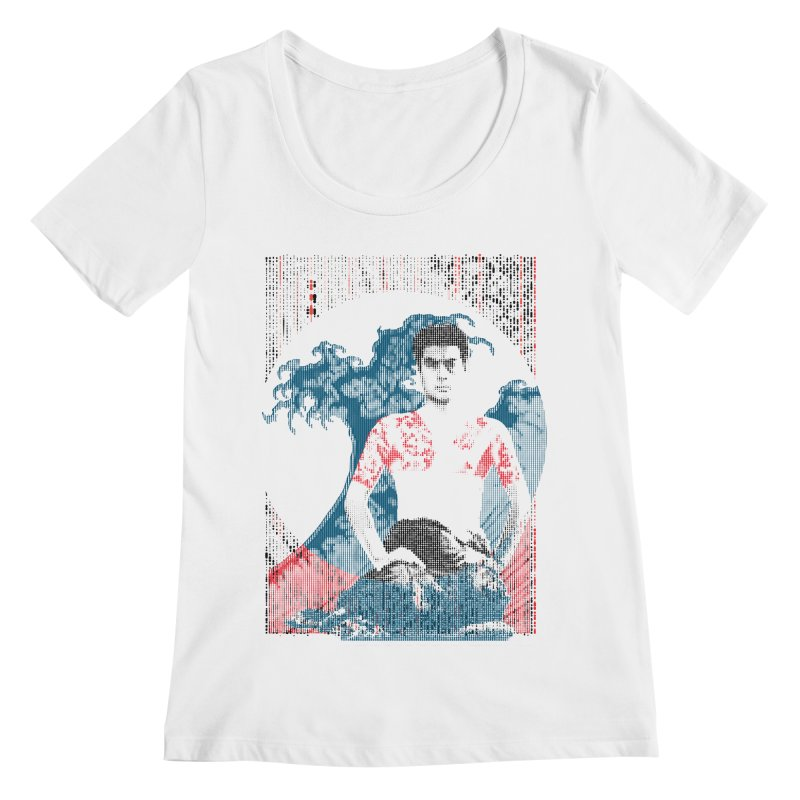 Samurai/Great Wave Women's Scoopneck by dgeph's artist shop