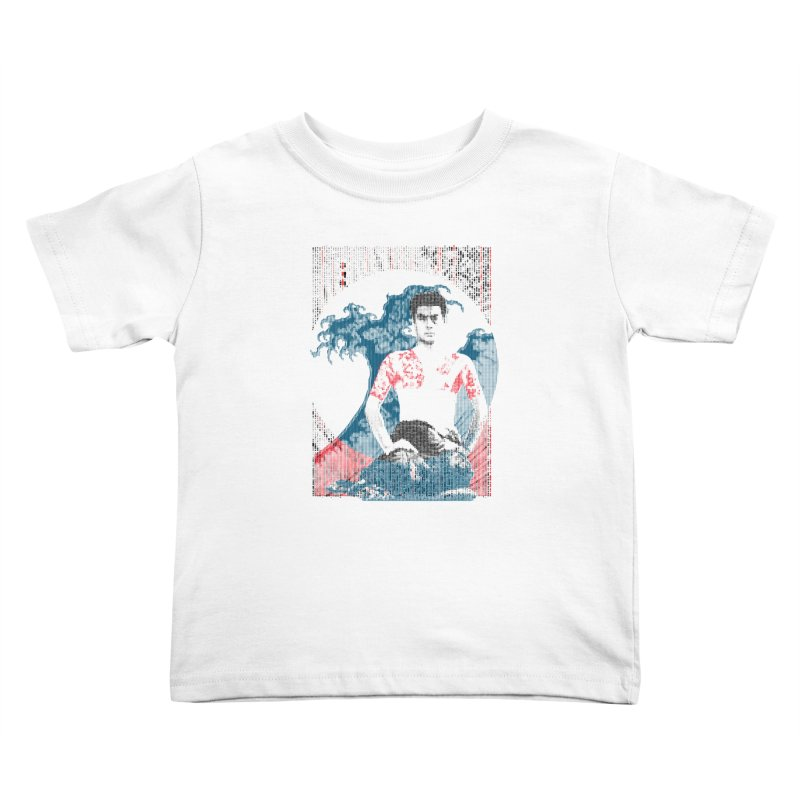 Samurai/Great Wave Kids Toddler T-Shirt by dgeph's artist shop