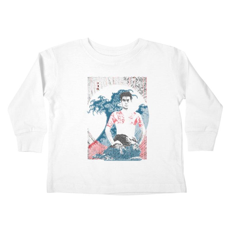 Samurai/Great Wave Kids Toddler Longsleeve T-Shirt by dgeph's artist shop
