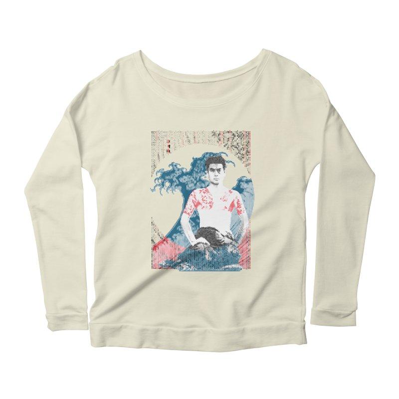 Samurai/Great Wave Women's Longsleeve Scoopneck  by dgeph's artist shop