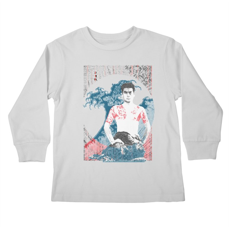 Samurai/Great Wave Kids Longsleeve T-Shirt by dgeph's artist shop
