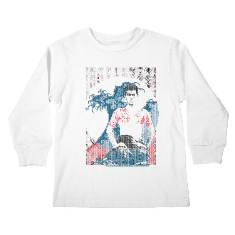 Samurai/Great Wave Kids Longsleeve T-Shirt by dgeph's artist shop