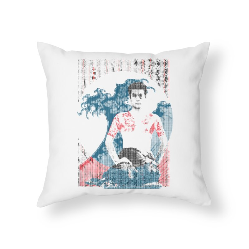 Samurai/Great Wave Home Throw Pillow by dgeph's artist shop
