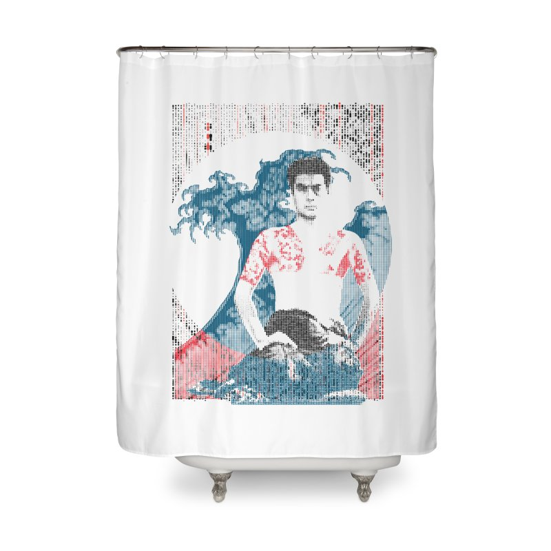 Samurai/Great Wave Home Shower Curtain by dgeph's artist shop