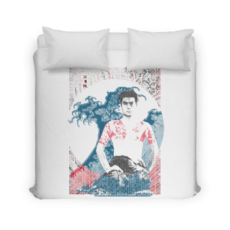 Samurai/Great Wave Home Duvet by dgeph's artist shop