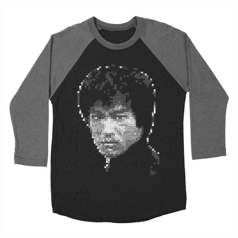 Bruce Lee (White on Dark) Men's Baseball Triblend T-Shirt by dgeph's artist shop