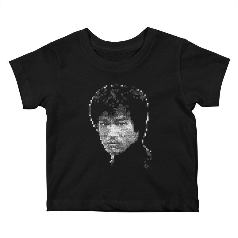 Bruce Lee (White on Dark) Kids Baby T-Shirt by dgeph's artist shop