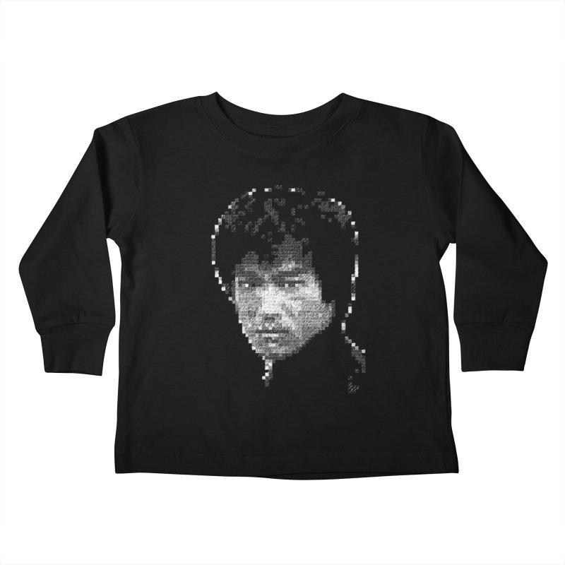 Bruce Lee (White on Dark) Kids Toddler Longsleeve T-Shirt by dgeph's artist shop